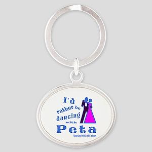 Dancing With Peta Oval Keychain
