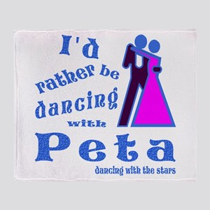 Dancing With Peta Throw Blanket