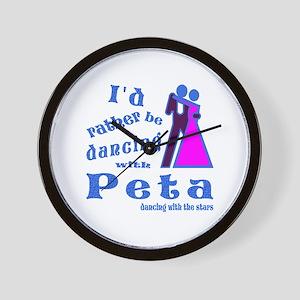 Dancing With Peta Wall Clock