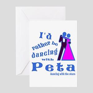 Dancing With Peta Greeting Card