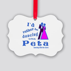Dancing With Peta Picture Ornament
