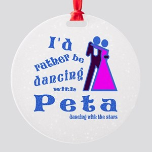 Dancing With Peta Round Ornament