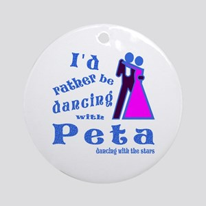 Dancing With Peta Ornament (Round)
