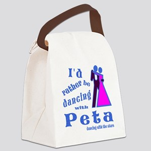 Dancing With Peta Canvas Lunch Bag