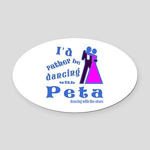 Dancing With Peta Oval Car Magnet