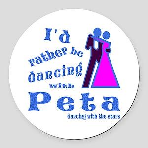 Dancing With Peta Round Car Magnet