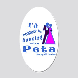 Dancing With Peta 20x12 Oval Wall Decal