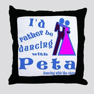 Dancing With Peta Throw Pillow