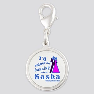 Dancing With Sasha Silver Round Charm
