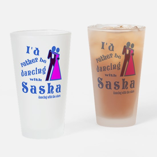 Dancing With Sasha Drinking Glass