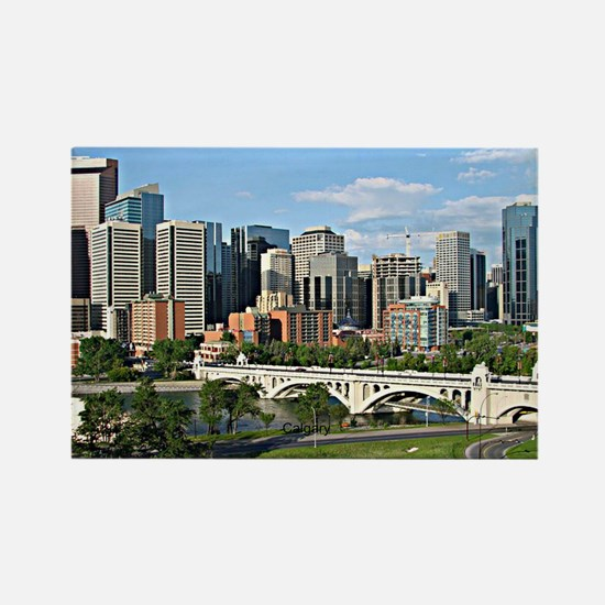 Calgary Cityscape Rectangle Magnet