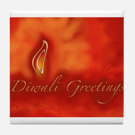 Diwali Light Greetings Tile Coaster