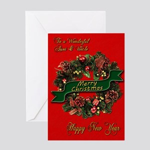 Christmas Wreath for your aunt and uncle Greeting