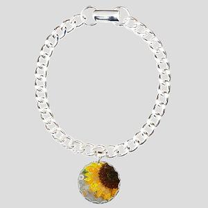 modern abstract circle p Charm Bracelet, One Charm