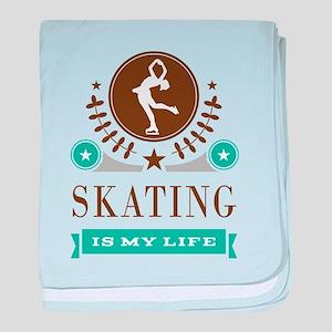 Skating Is My Life baby blanket