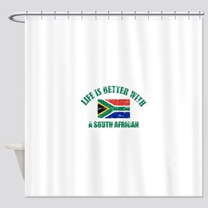 Life is better with a South African Shower Curtain