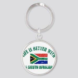 Life is better with a South African Round Keychain