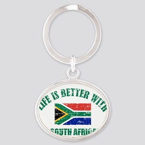 Life is better with a South African Oval Keychain