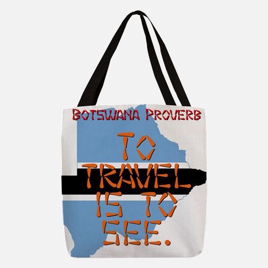 To Travel Is To See - Botswana Polyester Tote Bag