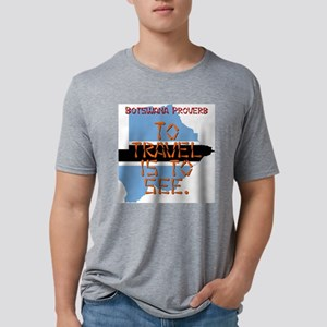 To Travel Is To See - Botswana Mens Tri-blend T-Sh