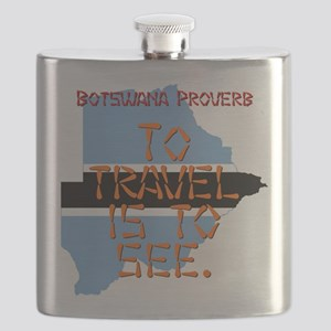 To Travel Is To See - Botswana Flask