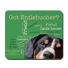 Got Entlebucher? Woof Cloud Mousepad