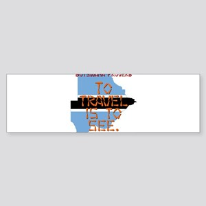 To Travel Is To See - Botswana Sticker (Bumper)