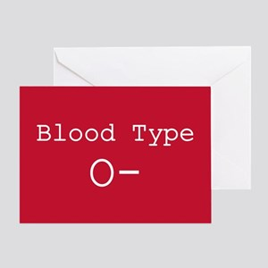 Type o negative greeting cards cafepress blood type o greeting cards m4hsunfo