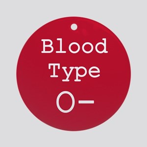 Blood Type O- Ornament (Round)