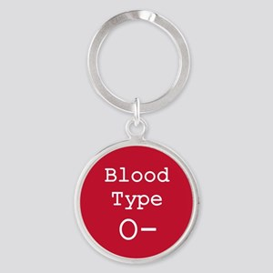 Blood Type O- Keychains