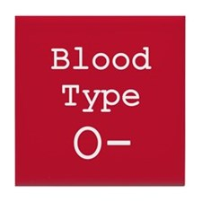 Blood Type O- Tile Coaster