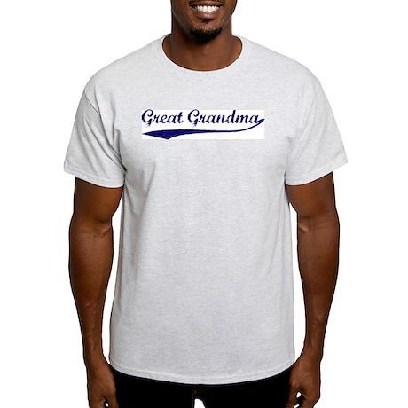 Vintage (Blue) Great Grandma Ash Grey T-Shirt