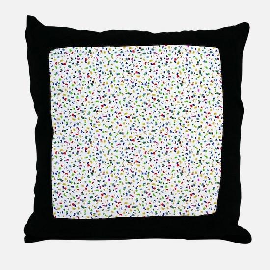 Confetti Falling Throw Pillow