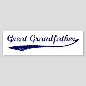 Vintage (Blue) Great Grandfat Bumper Sticker