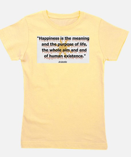 Happiness by Aristotle Girl's Tee
