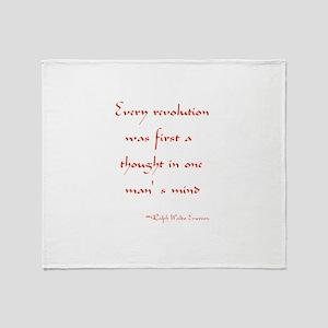 Every Revolution Throw Blanket