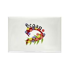 Vegan Vase Rectangle Magnet (100 pack)