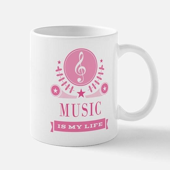Music Is My Life Vintage Mug