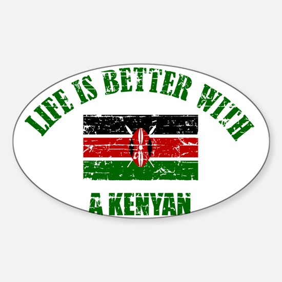 Life is better with a Kenyan Sticker (Oval)