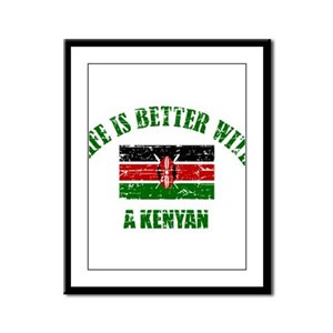Life is better with a Kenyan Framed Panel Print