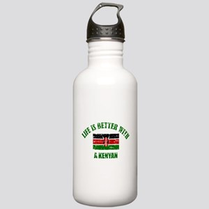 Life is better with a Kenyan Stainless Water Bottl
