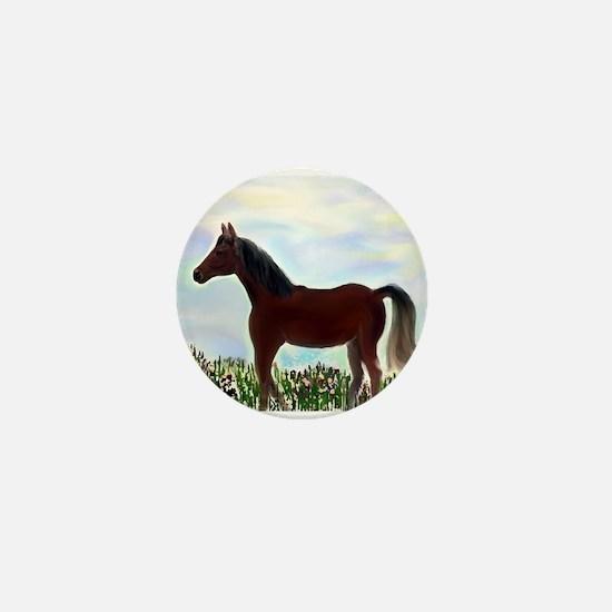 Arabian in Wildflower Meadow Mini Button