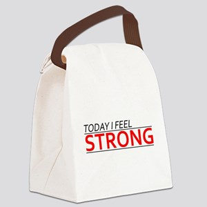 Today I Feel Strong Canvas Lunch Bag