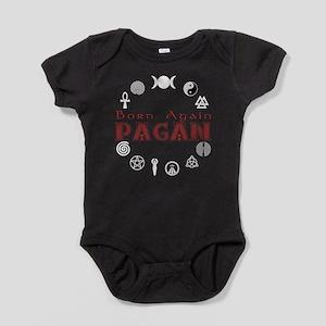 Born Again Sym Red-Blk Baby Bodysuit