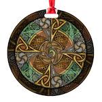 Celtic Aperture Mandala Round Ornament