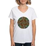 Celtic Aperture Mandala Women's V-Neck T-Shirt