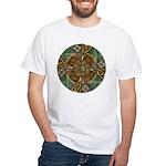 Celtic Aperture Mandala White T-Shirt