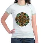 Celtic Aperture Mandala Jr. Ringer T-Shirt