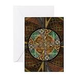 Celtic Aperture Mandala Greeting Card