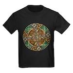 Celtic Aperture Mandala Kids Dark T-Shirt